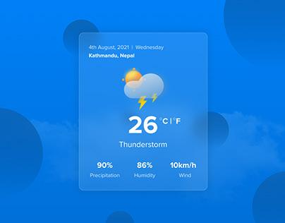 Glass Morphism Weather Update