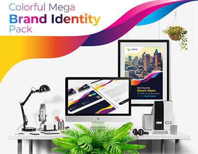 Colorful Mega Branding Identity Pack
