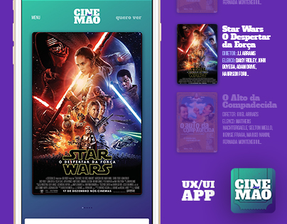 UX/UI App CineMão - A cinema guide in your pocket!