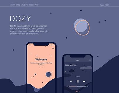 """DOZY"" - UI/UX CASE (MOBILE APP)"
