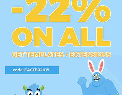 Easter Sale! Get professional Joomla templates 22% OFF