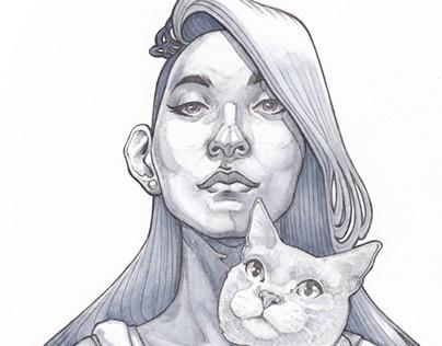 La Dama con il Gatto