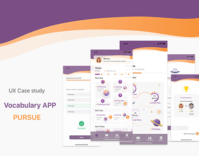UX Case study , vocabulary learning app