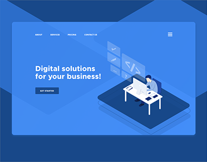 Isometric design in website