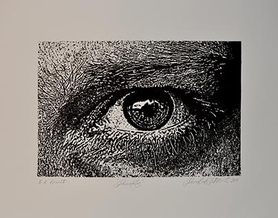 Linocut - Printmaking process