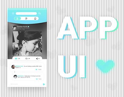 Social application UI - Concept