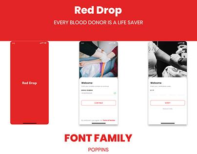 RED DROP BLOOD DONATION APP UI KIT