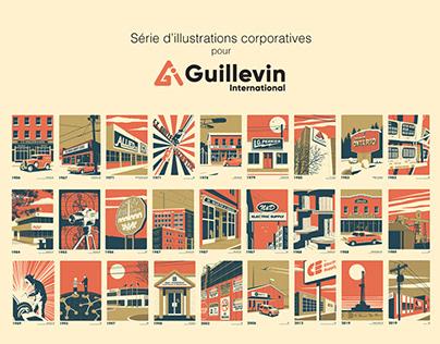 Série d'illustrations corporatives