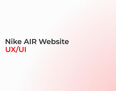 NIKE AIR Website - UX/UI