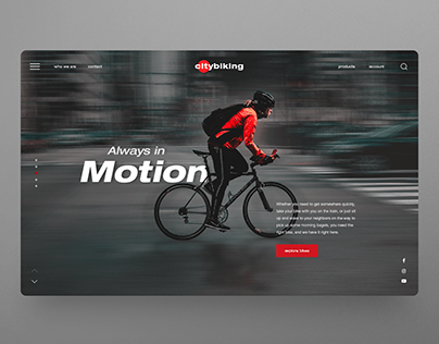 Bicycle Website UI design