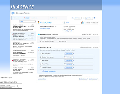 User Interface Design for mail Application
