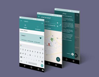 Colectivos Río Cuarto App Design