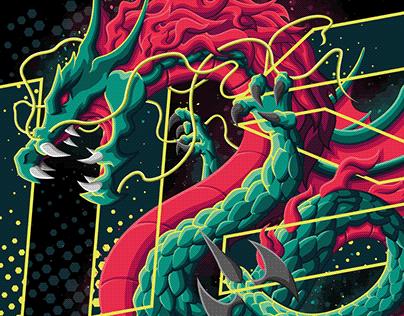 MSI Dragon   Vector Illustration