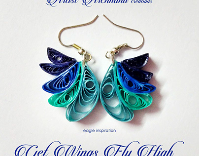 FLYING EAGLE - PAPER QUILLED JEWELRY