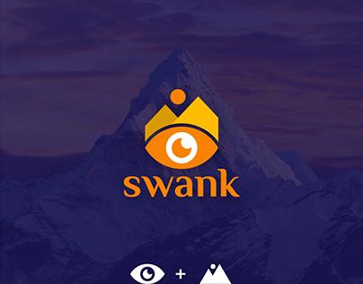 Mountain + eye logo design