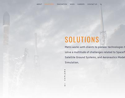 Metis Tech Website Design