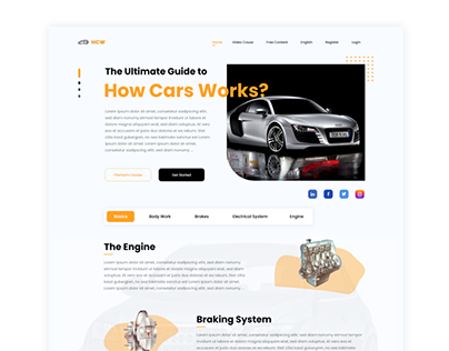 How Cars Works Web UI Kit - Part 02