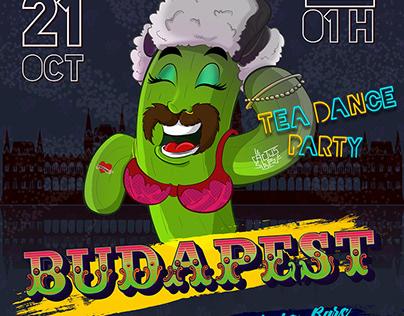 Budpest party poster design
