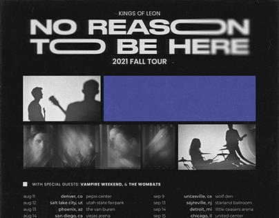 Kings of Leon 2021 Tour Posters + Branding