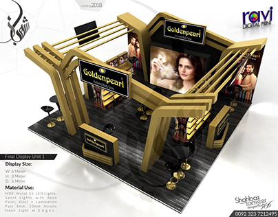 Golden Pearl Exhibition Stand for UAE