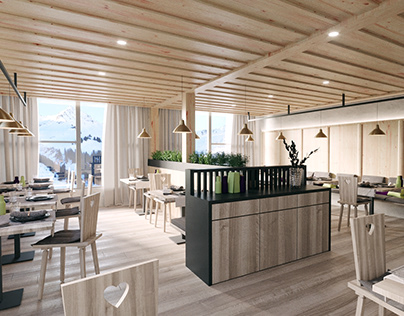 INTERIOR FOR RESORT IN THE ALPS