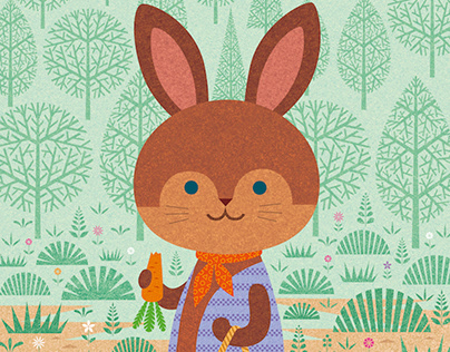Rabbit shopping / digital work
