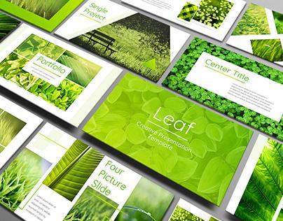 Leaf - Powerpoint Presentation Template
