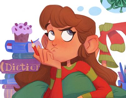 Christmas & New Year illustrations, 2018