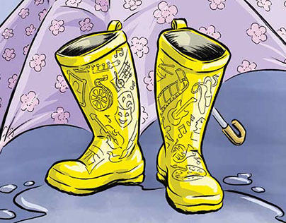 Artful Galoshes: Springtime with the Arts