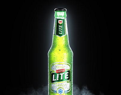 Castle Lite Bottle   CGI