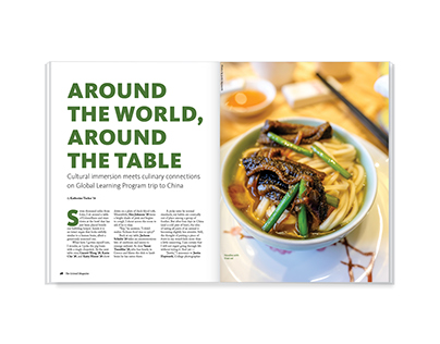 Around the World, Around the Table – magazine feature
