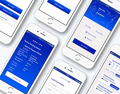 Amtrak Redesign Mobile App