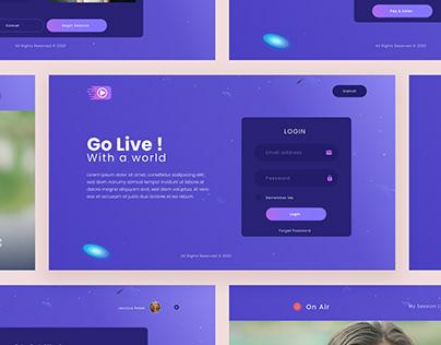 GoLive Video Session Web Ui