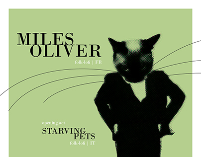 Miles Oliver + Starving Pets | poster