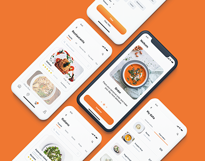 UI/Ux Design for Food Ordering & Delivery App