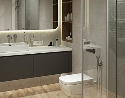 Ванная, 4,6м2. Киев Bathroom, 4.6sq.m. Kyiv