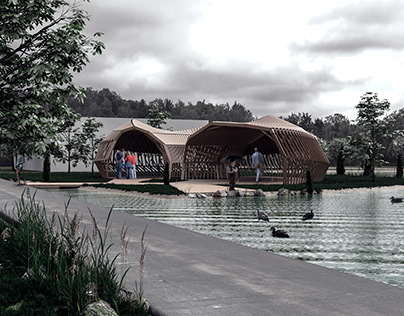 Visualization of pavilion for fun meets