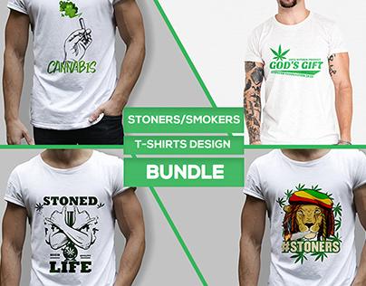 Stoners/Smokers T-shirts Design Bundle
