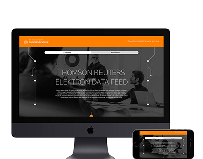 Thomson Reuters: Responsive EDP Sales Database Website