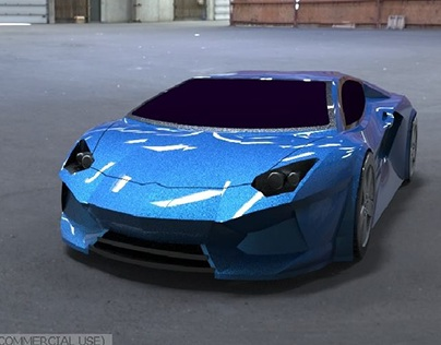cad model of Lamborghini aventador