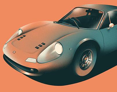 Custom Lamborghini illustration