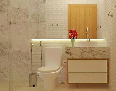 Banheiro para apartamentos pequenos
