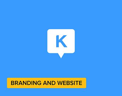 KnowledgeBox App Logo + App Website + Concept Sketch