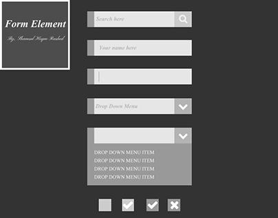 Flat Form Elements