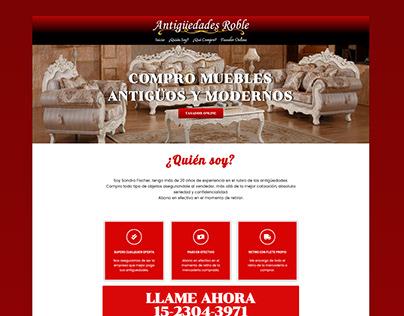 Antiguedades Roble | Diseño Web