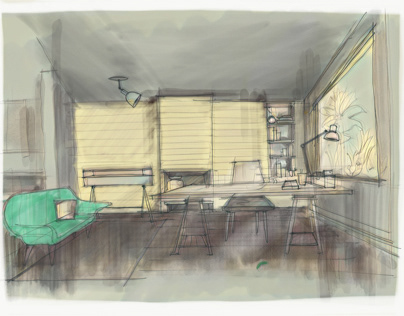 Sketch: Atelier Lewin Interior