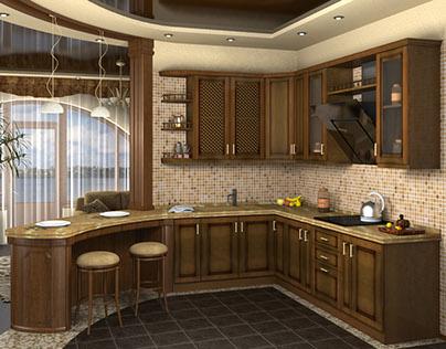 House in Kherson, Kitchen-studio
