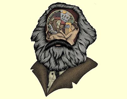 Karl Marx - Historical Materialism / Illustration