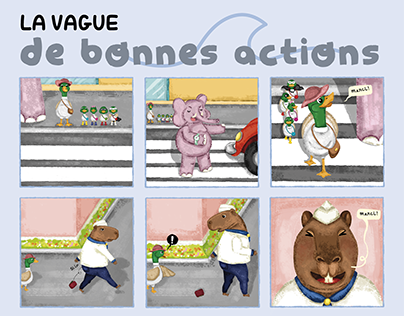 Short comic: the wave of good actions