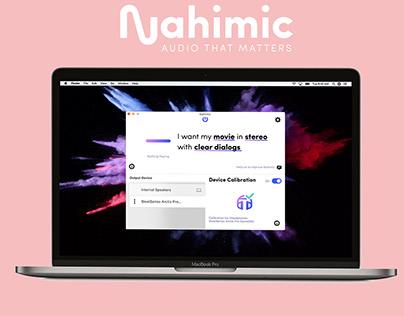 Nahimic App | Motion Design | Gif | POSTER
